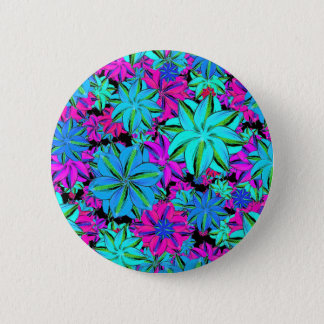 Vibrant Floral Collage 6 Cm Round Badge