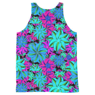 Vibrant Floral Collage All-Over Print Singlet
