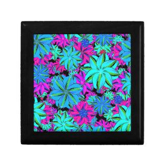 Vibrant Floral Collage Small Square Gift Box