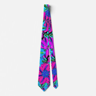 Vibrant Floral Collage Tie