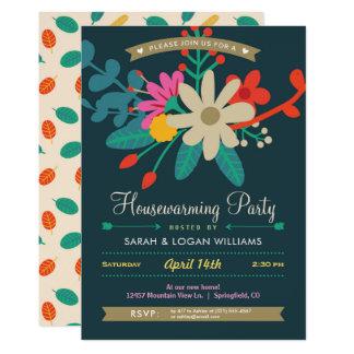 Vibrant Floral Housewarming Party Invitation