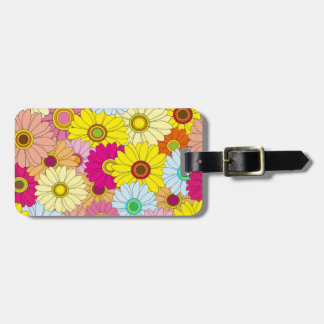 Vibrant Floral Pattern Luggage Tag