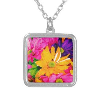 Vibrant Flower Art Necklace