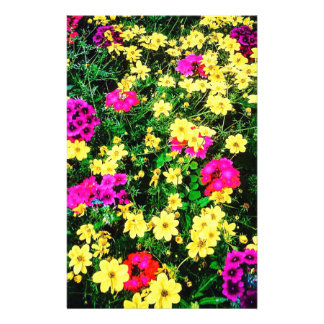 Vibrant Flower Bed Stationery Paper