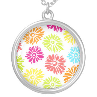 Vibrant Flowers necklace