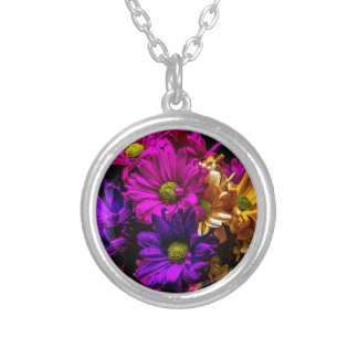 Vibrant Flowers Personalized Necklace