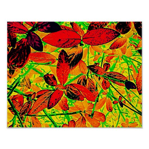 Vibrant Foliage Poster
