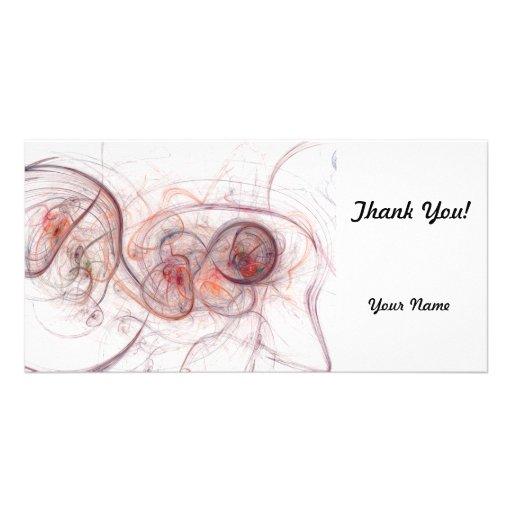 Vibrant Fractal Customized Photo Card