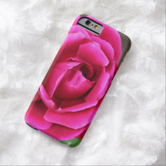 Vibrant Fuchsia Pink Rose Blossom Makro Barely There iPhone 6 Case