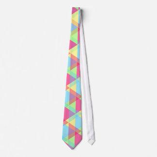 Vibrant Geometric - Arrow Triangle Pattern Tie
