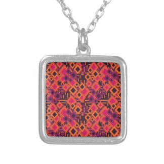 Vibrant Geometric Diamond Pattern Custom Jewelry