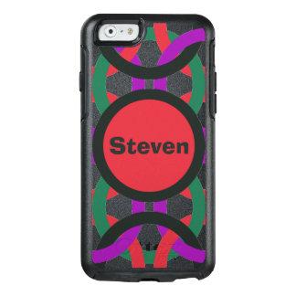 Vibrant Geometric Multicolored Circles Personalize OtterBox iPhone 6/6s Case