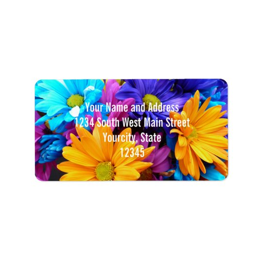 Vibrant Gerbera Daisy Bouquet Label