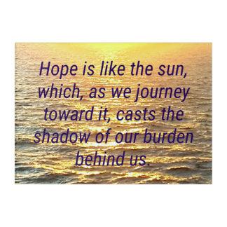 Vibrant Golden Ocean Sunrise Wisdom Quote Acrylic Print