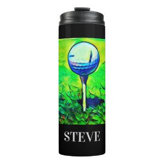 Vibrant Golf Sports Name Tumbler