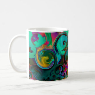 Vibrant   GREEN ABSTRACT Coffee Mug
