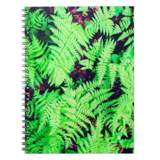 Vibrant Green Ferns Notebook