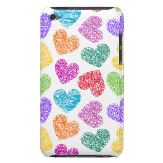 Vibrant hearts iPod Touch Case-Mate Barely There iPod Cover