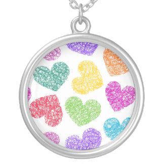 Vibrant Hearts necklace