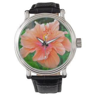 Vibrant Hibiscus Wrist Watches