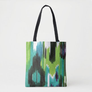 Vibrant Ikat Print Tote Bag