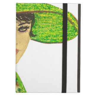 Vibrant Lady in Green Case For iPad Air