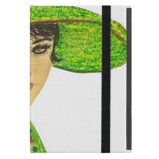 Vibrant Lady in Green Cover For iPad Mini