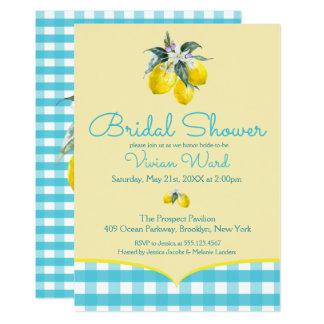Vibrant Lemon Bridal Shower Invitations
