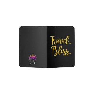 Vibrant Life Travel Bliss Passport Holder in Black
