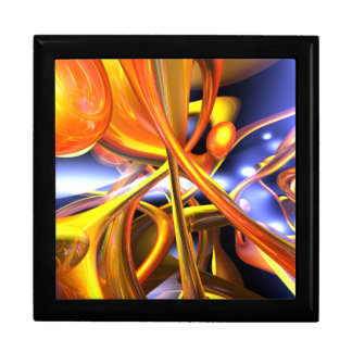 Vibrant Love Abstract Large Square Gift Box