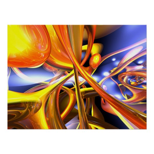Vibrant Love Abstract Poster
