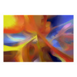 Vibrant Love Pastel Abstract Poster