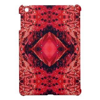 Vibrant Magenta Red Black Diamond Pattern Case For The iPad Mini