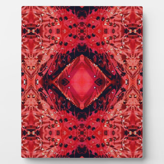 Vibrant Magenta Red Black Diamond Pattern Display Plaques
