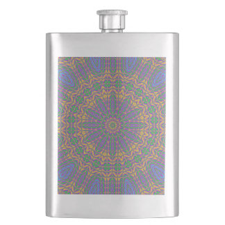 Vibrant Mandala 2 Hip Flask