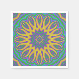 Vibrant Mandala Disposable Serviette
