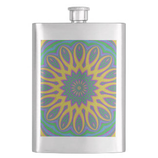 Vibrant Mandala Hip Flask