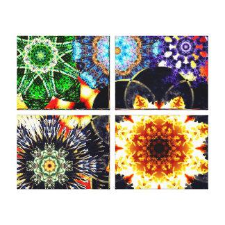 Vibrant Mandala Montage Canvas Print