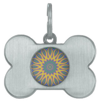 Vibrant Mandala Pet Name Tag