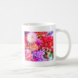 Vibrant Mixed Flower Bouquet Background Coffee Mug