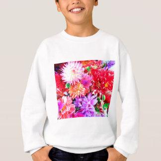 Vibrant Mixed Flower Bouquet Background Sweatshirt