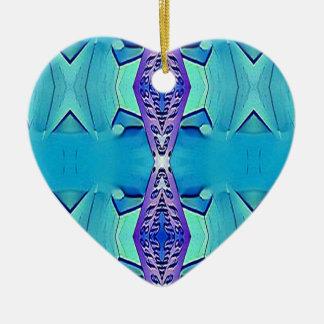 Vibrant Modern Shades Of Blue Purple Ceramic Ornament