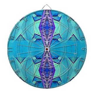 Vibrant Modern Shades Of Blue Purple Dart Board
