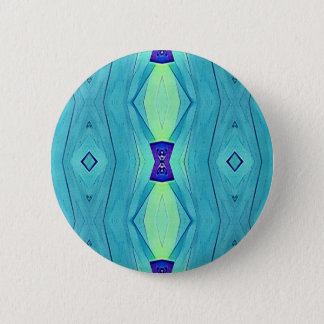 Vibrant Modern Shades Of Teal Blue Mint 6 Cm Round Badge