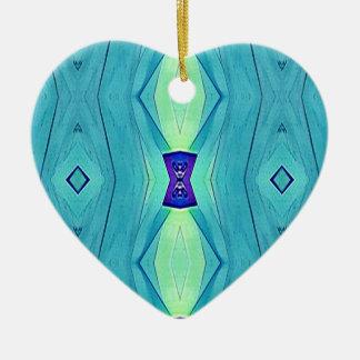 Vibrant Modern Shades Of Teal Blue Mint Ceramic Heart Decoration