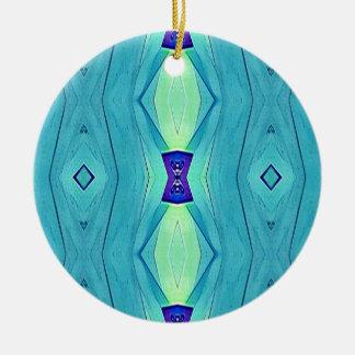 Vibrant Modern Shades Of Teal Blue Mint Ceramic Ornament
