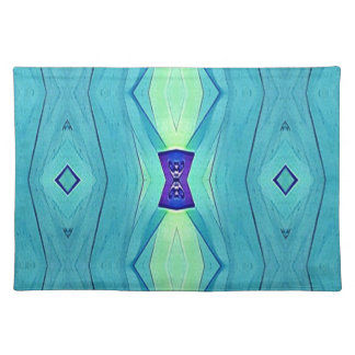 Vibrant Modern Shades Of Teal Blue Mint Placemat