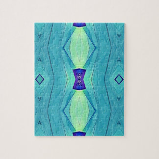 Vibrant Modern Shades Of Teal Blue Mint Puzzles