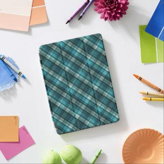 Vibrant & Modern Teal Plaid Pattern iPad Air Cover