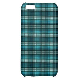 Vibrant & Modern Teal Plaid Pattern iPhone 5C Case